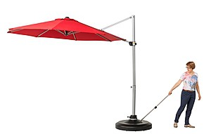 Simply lift and roll the umbrella stand