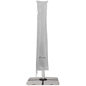 For hanging umbrellas up to 350 cm Ø and 300 cm x 300 cm, with zip and rod